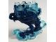 Part No: 65227pb03  Name: Minfigure Pedestal Ghost / Smoke with Marbled Dark Blue Pattern