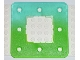 Part No: clikits011pb01  Name: Clikits Frame, Square with 8 Holes with Color Graduating to Trans-Bright Green Pattern