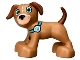 Part No: 1396pb04  Name: Duplo Dog Large Paws with Medium Azure Eyes and Paw Print Collar