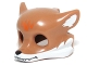 Part No: 14290pb02  Name: Minifigure, Headgear Mask Fox with White Fur and Orange Markings Pattern