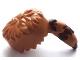 Part No: 15494pb01  Name: Minifigure, Headgear Raccoon Skin Cap with Reddish Brown Tail Rings Pattern