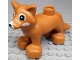Part No: 18808c01pb02  Name: Duplo Fox with White Muzzle and White Eye Spots Pattern (Husky)