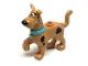 Part No: 21042pb01c02  Name: Dog, Great Dane Scooby-Doo Walking with Medium Azure Collar, Chattering Teeth Pattern