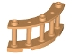 Part No: 21229  Name: Fence 4 x 4 x 2 Quarter Round Spindled with 3 Studs