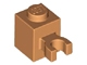 Part No: 30241  Name: Brick, Modified 1 x 1 with Open U Clip (Vertical Grip) - Solid Stud