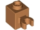 Part No: 30241b  Name: Brick, Modified 1 x 1 with Open O Clip Vertical - Hollow Stud