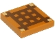 Part No: 3068bpb0893  Name: Tile 2 x 2 with Groove with Dark Brown Minecraft Crafting Table Grid Pattern