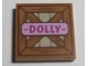 Part No: 3068bpb1117  Name: Tile 2 x 2 with Groove with Wooden Fence and Pink 'DOLLY' Pattern (10746)