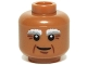 Part No: 3626cpb1122  Name: Minifigure, Head Bushy White and Gray Eyebrows, Crow's Feet and Crooked Smile Pattern - Hollow Stud
