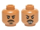 Part No: 3626cpb1421  Name: Minifigure, Head Dual Sided Black Moustache and Goatee, White Pupils, Neutral / Open Mouth Scowling Teeth Pattern (Tasu Leech) - Hollow Stud
