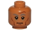 Part No: 3626cpb1445  Name: Minifigure, Head Dark Gray Eyebrows, Cheeks, Forehead and Chin Lines, Shadows Under Eyes Pattern (SW First Order Officer) - Hollow Stud