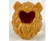 Part No: 49109pb01  Name: Minifigure, Hair Lion's Mane with Flesh Cat Ears Pattern