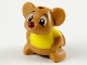 Part No: 70844pb01  Name: Hamster / Mouse, Friends with Reddish Brown Nose and Yellow Shirt Pattern (Gus)