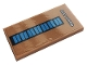 Part No: 87079pb0889  Name: Tile 2 x 4 with White 'EAST STAND' and Blue Rectangles Pattern (Sticker) - Set 10272