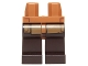 Part No: 970c120pb08  Name: Hips and Dark Brown Legs with Dark Tan SW Robe Pattern