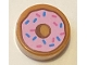 Part No: 98138pb182  Name: Tile, Round 1 x 1 with Doughnut with Bright Pink Frosting and Sprinkles Pattern