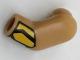 Part No: 981pb126  Name: Arm, Left with Bright Light Orange Cuff Pattern