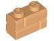 Part No: 98283  Name: Brick, Modified 1 x 2 with Masonry Profile (Brick Profile)