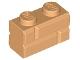 Part No: 98283  Name: Brick, Modified 1 x 2 with Masonry Profile