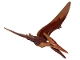 Part No: Ptera02  Name: Dinosaur, Pteranodon with Reddish Brown Back