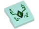 Part No: 15068pb066  Name: Slope, Curved 2 x 2 with Green Geometric Dragon Scale and Green Swirls Pattern (Sticker) - Set 41176