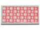 Part No: 87079pb0766  Name: Tile 2 x 4 with Bedspread with White Paws on Coral Background Pattern (Sticker) - Set 41424