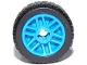 Part No: 11208c01  Name: Wheel 14mm D. x 9.9mm with Center Groove, Fake Bolts and 6 Spokes with Black Tire 21 X 9.9 (11208 / 11209)