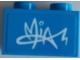 Part No: 3004pb228  Name: Brick 1 x 2 with 'MIA' Signature Graffiti Pattern (Sticker) - Set 41327