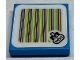 Part No: 3068bpb1534  Name: Tile 2 x 2 with Groove with Super Mario Scanner Code Larry Pattern (Sticker) - Set 71380
