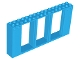 Part No: 35103  Name: Door Frame 2 x 16 x 6 with 3 Openings and 2 Studs on Either Side on Front