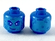 Part No: 3626cpb2363  Name: Minifigure, Head Alien, Medium Azure Face and Eyes, Bubble Outlines Pattern - Hollow Stud