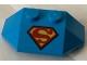 Part No: 47759pb12  Name: Wedge 2 x 4 Triple with Superman 'S' Logo Reverse Pattern