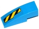 Part No: 50950pb075R  Name: Slope, Curved 3 x 1 with Black and Yellow Danger Stripes Cutout Pattern Right (Sticker) - Set 76020