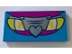 Part No: 87079pb0598  Name: Tile 2 x 4 with Car Front Grille with Heart and Lights Pattern
