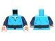 Part No: 973pb1503c01  Name: Torso SW V-Neck Shirt and Dark Brown High Tie Belt Pattern / Dark Blue Arms / Light Nougat Hands
