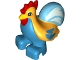 Part No: bb0852pb02  Name: Duplo, Animal Chicken, Rooster, Two Feet with Medium Azure Tail