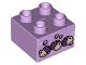 Part No: 3437pb089  Name: Duplo, Brick 2 x 2 with 3 Acorns Pattern