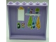 Part No: 59349pb107  Name: Panel 1 x 6 x 5 with Mirror, Perfume Bottles, and Hanging Towels Pattern on Inside (Sticker) - Set 41095