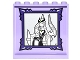 Part No: 59349pb115  Name: Panel 1 x 6 x 5 with Portrait of Elves Ragana and Cat Jynx in Dark Purple Frame on Inside Pattern (Sticker) - Set 41180