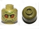 Part No: 3626cpb0669  Name: Minifigure, Head Alien with SW Neimoidian Green Facial Lines Pattern - Hollow Stud