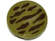 Part No: 4150pb166  Name: Tile, Round 2 x 2 with Dark Tan Tiger Stripes Pattern (Sticker) - Set 79008