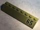 Part No: 4445pb03L  Name: Slope 45 2 x 8 with Black '65' on Olive Green Background Pattern Model Left Side (Sticker) - Set 76017