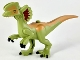 Part No: 49413pb01  Name: Dino Body Dilophosaurus with Rubbery Tale, Dark Red and Medium Dark Flesh Markings Pattern