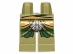 Part No: 970c00pb0207  Name: Hips and Legs with Green and Gold Robe and Silver Scale Mail Pattern