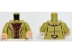 Part No: 973pb1791c01  Name: Torso LotR Coat with Tan Fur Lining over Reddish Brown Shirt Pattern / Olive Green Arms / Light Nougat Hands