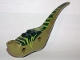 Part No: 98165c01pb02  Name: Dinosaur Middle Raptor with Dark Green Top with Lime Stripes Pattern