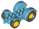 Part No: 15313c01  Name: Duplo Car Base 2 x 6 Tractor with Mudguards and Yellow Wheels with Black Tires