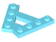 Part No: 15706  Name: Wedge, Plate A-Shape with 2 Rows of 4 Studs