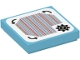 Part No: 3068bpb1784  Name: Tile 2 x 2 with Groove with Super Mario Scanner Code Customization Time Block, Gear and Curved Arrows, Square Corner Pattern (Sticker) - Set 71380