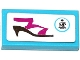 Part No: 3069bpb0439  Name: Tile 1 x 2 with Groove with 'MP' Logo and Shoe Pattern (Sticker) - Set 41104